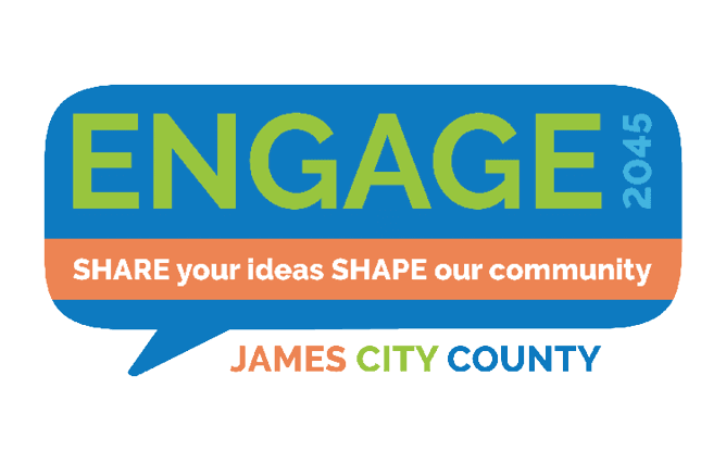 Engage 2045 Share your ideas shape our community james city county logo