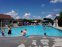 Swimmers enjoy the pool at Chickahominy Riverfront Park